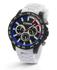TW Steel Yamaha Factory Racing 45mm White Strap Chronograph Watch Y116