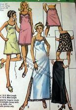 LOVELY VTG 1970s SLIPS Sewing Pattern 10/32.5