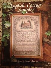 Vintage English Cottage Sampler pattern leaflet by Teresa Wentzler 1990  Unused