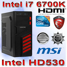 Aufrüst PC Intel Core i7 6700K 4x4,20Ghz-8GB PC2400-MSI Z170-A Gaming PRO USB3.1