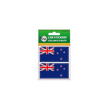 NEW ZEALAND , SET OF 2 COUNTRY FLAG VINYL CAR STICKERS..1 3/8 X 2 3/4 INCH