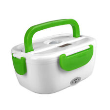 Portable Electric Heated New Heating Lunch Box Travel Food Warmer Green