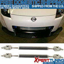 Set Carbon Fiber Frame Bumper Rod Splitter Strut Bar Fit For Nissan 5.5 -8 Inch