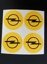 4x 60 mm fits opel wheel STICKERS center badge centre trim cap hub alloy yel