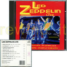 "LED ZEPPELIN ""LIVE"" RARE CD 1992 ITALY"