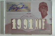 2012 Topps Triple Threads Relics WHITE WHALE Fergie Jenkins Jersey Auto #1/1
