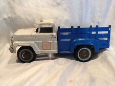 Collectible Vintage Hubley Metal Toy Farm White & Blue Truck Made In USA