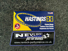 VAUXHALL Z20LET Z20LEH HASTINGS PISTON RING SET STD 86.00 BORE SRI GSI VXR
