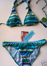 ROXY STRIPED BIKINI SWIMSUIT SIZE MEDIUM