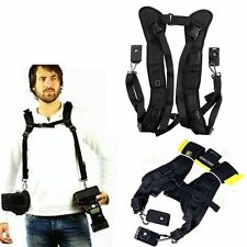 Black Double Shoulder Sling Belt Quick Strap for Kodak Easyshare Z5010 Z5120