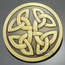 Vintage Gold Western Tribal Celtic Trinity Knot Cowboy Rodeo Belt Buckle Gift