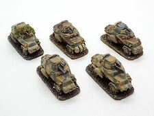 15mm WW2 German ARMOURED CARS x5 Flames of War Painted 33833