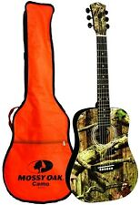INDIANA MOSSY OAK 34 ACOUSTIC GUITAR W/ ORANGE BAG MO-34 Guitar NEW