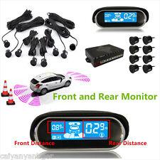 8 Parking Sensors Car LCD Display Front& Rear Reverse Backup Radar Alarm Safety