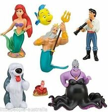 Little Mermaid Ariel Collectible Figurine Playset Play Set Cake Top (7 Pieces)