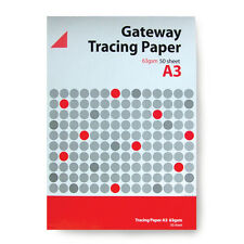 Gateway Layout Tracing Draft Technical Drawing Paper Pad 63gsm 50 A3 Sheets