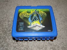 Vintage Batman Virtual Blue Plastic Lunch Box No Thermos
