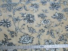 ORIEL Caramel Brown / Tan by Braemore - Floral Upholstery Fabric  - by the Yard