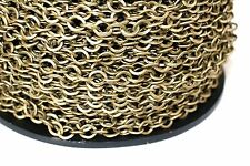 15ft Antique Brass Finished 6x7mm Cable Chain links-unsoldered 1-3 day Ship
