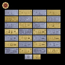 WR 2 Full Sets of US Dollar Bill Notes Nice Gold / Silver Foil Banknote Free COA