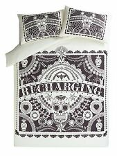 George Day of the Dead Sugar Skull Tattoo KING SIZE Duvet Cover + 2 Pillowcases