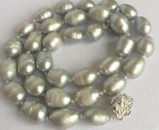 NEW 11-14MM SINGLE STRANDS TAHITIAN GRAY PEARL NECKLACE 18inch