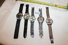 LOT OF 5 WATCHES, ZOO YORK, CROTON, NY&C ,LB AND MORE F45