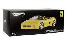 FERRARI F355 SPIDER DIE CAST 1/18 YELLOW BY HOT WHEELS ELITE BLY35