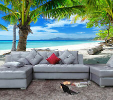 3D Wallpaper Mural Coconut Palm Tree Beach Sea View Wall Paper Background Decor