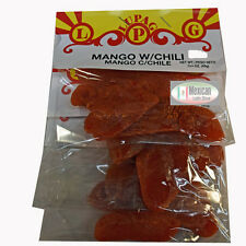 3 Bags Mango With Chili Spicy Mexican Candy Snacks Dried mango.