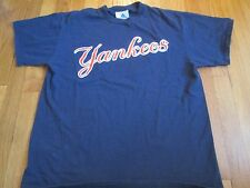 ADIDAS MLB NEW YORK YANKEES BLUE T-SHIRT SIZE L