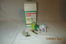 VINTAGE JUMPING RABBIT TIN LITHO WIND UP WITH BOX BY BLIC