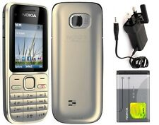 New condition Nokia C2-01 3G Sim Free Unlocked Bluetooth Gold Mobile Phone