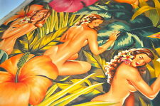 Alexander Henry USA 0,5m Hibiskus Hawaii HAWAII PIN UP GIRLS SURFER Rockabella I
