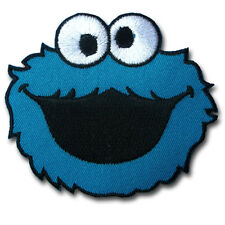 Cookie Monster Sesame Street Patch Iron on Appliques Cartoon Kid Elmo Sew Comic
