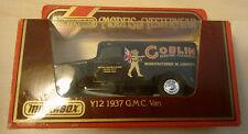 """MATCHBOX y12 1937 GMC van Camionnette Noir """"clan"""" neuf dans emballage d'origine"""