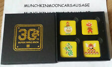 New Box of 4 Super Mario Bros. 30th Anninversary Promo Pin Badges Nintendo
