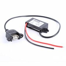DC 12V To 5V 3A 15W Step Down Car Charger Converter Power Module+USB Cable Wire