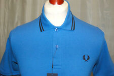 Men's Medium BLUE Fred Perry Classic Twin Tip Polo Shirt.