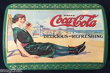 Vintage © 1994 Coke Coca-Cola Tin Canister Victorian Bathing Beauty on Beach