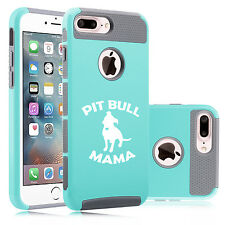 For iPhone SE 5 5s 6 6s 7 Plus Dual Shockproof Hard Case Cover Pit Bull Mama