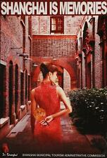 CHINA SHANGHAI IS MEMORIES 1999 Vintage TOURISM TRAVEL poster 23x33