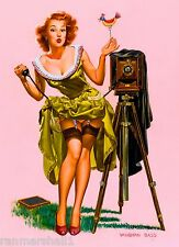 1940s Pin-Up Girl Watch the Birdie Say Cheese 10x13.5 Poster Pin Up Vintage