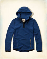 NWT Hollister by Abercombie MEN Blue Contrast Hoodie, SIZE XL