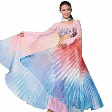 New Egyptian Egypt Belly Dance Costume Gradient Colors Colorful Angel Isis Wings