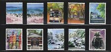 JAPAN 2010 (PREFECTURE) TRAVEL SCENERY SERIES NO. 7  MIYAKI SET 10 STAMPS USED