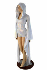 SMALL Flashbulb Holographic Kimono Sleeve Zippered Hoodie Romper Ready To Ship!