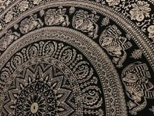 Elephant Throw Tapestry, Indian Mandala Wall Hanging,Beach Blanket, Bedding  New