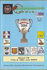 #UU.  NEWCASTLE RUGBY LEAGUE PROGRAM ROUND 19,  17-19 July 2004
