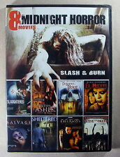 Midnight Horror 8 Movie Pack - Slash & Burn - 2 Disc DVD Set - Brand New